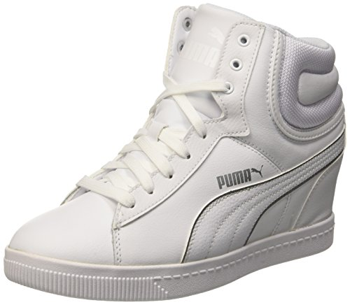Puma Vikky Wedge L Fs, Sneaker Woman (Basketball), Bianco/Argento, 6.5 EU