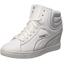 Puma Vikky Wedge Fs Sneaker L, Color Blanco/Plateado, 4