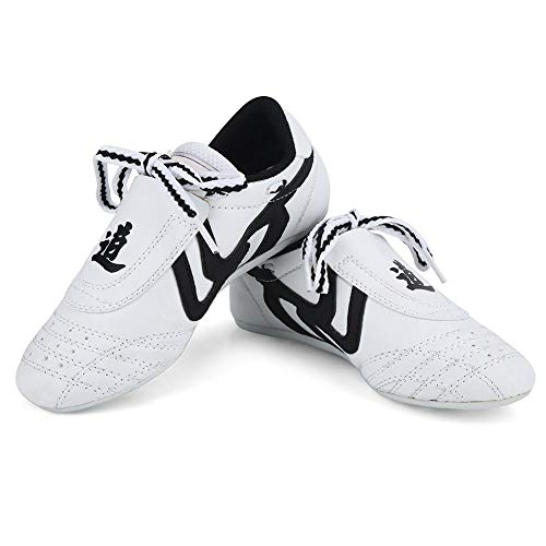 Dilwe Taekwondo Schuhe, 10 Größen Weiche Gummisohlen Martial Arts Sneaker für Männer Kong Fu Taichi(36) -