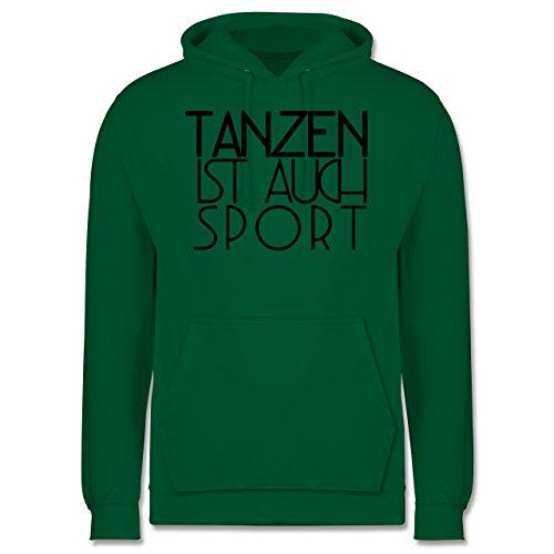 Statement Shirts - Tanzen ist auch Sport - Männer Premium Kapuzenpullover / Hoodie Grün