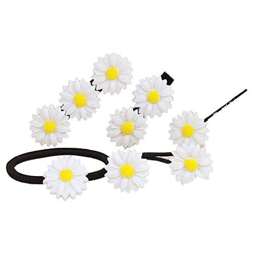 Rekkle Spangen Kopfbedeckung-Haar-Riegel-Band-Frauen-Blumenform-Haar-Klipp-Ohr-Haarnadel Mädchen Kopfschmuck -