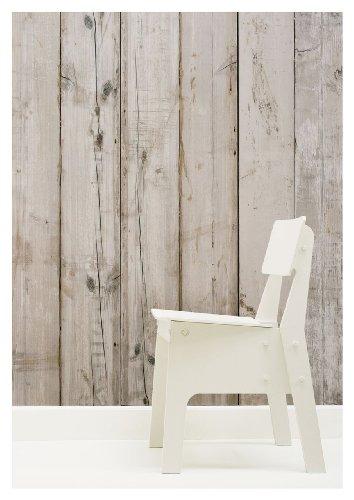 NLXL Tapete im Holz-Look, von Piet Hein Eek, 1Rolle 900x48,7cm, Beige - Scrapwood Wallpaper