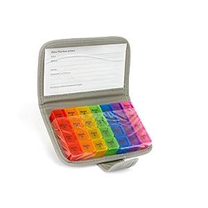 Trendario Pillenorganizer 7 Tage Tablettenbox Wochenspender Pillenbox Tablettendose Medikamentendosierer Woche