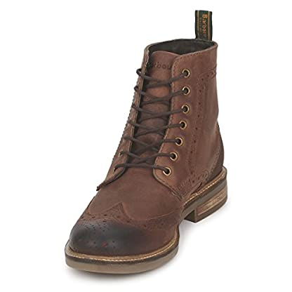 Mens Barbour Belsay Smart Leather Work Office Lace Up Brogue Ankle Boots