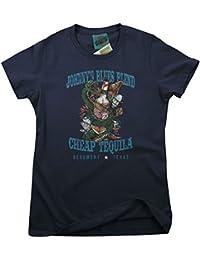 Bathroom Wall Johnny Winter Inspired Cheap Tequila Texas, Women's T-Shirt