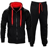 Herren Trainingsanzug Jogginganzug Fitnessanzug Kapuzenpullover Gym Set SLIMFIT