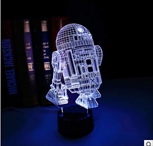3D stereoskopische Lichter Millennium Falcon Titanium Kampfflugzeug führte Nachtlichter kreative Karikatur führte Lichter D
