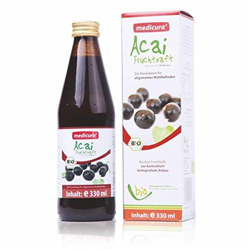 Bio Acai Saft - 100% - 330ml Glasflasche, 330ml - Acai-saft