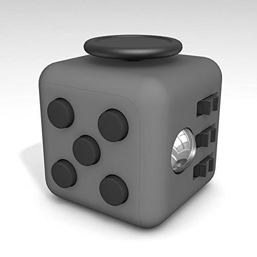 Tepoinn Fidget Cube con 6 funzioni Dadi di StressAgitarsi Cube Allevia lo Stress e l'ansia Giocattoli Articoli da regalo Per Bambini e Adulti (Grigio Scuro)