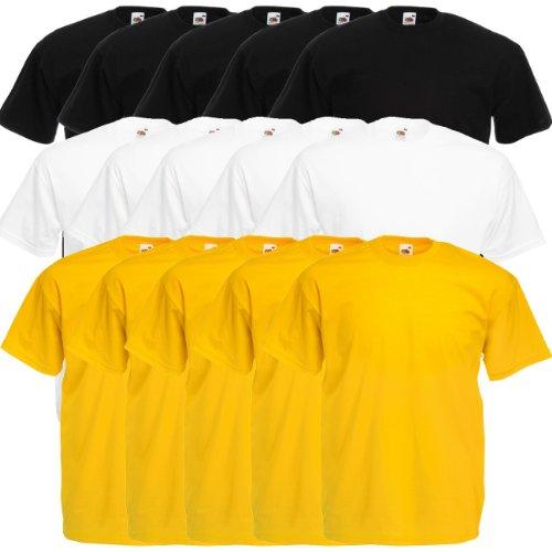 Fruit of the Loom Original Valueweight T Rundhals T-Shirt F140 5er 10er  15er 20er