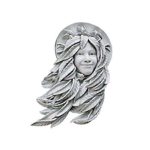 Design Toscano Daphne: Weibliche Blattmaske, Wandfigur