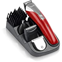 Saachi NL-TM-1350 9 in 1 Rechargeable Hair Trimmer, Red