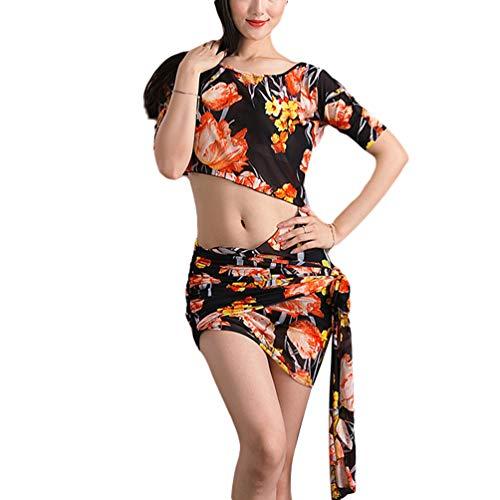 Zengbang Dance Damen-Bauchtanz-Kostüm Irregulär Röcke Tanz Schlank Professionelles 2-Teiliges Set - Professionelle Ägyptische Bauchtanz Kostüm