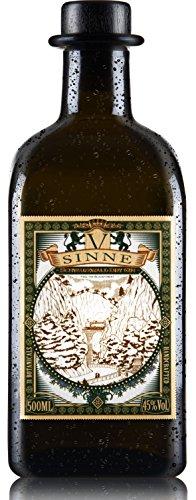 V-SINNE Gin | Schwarzwald Dry Gin – Feel the Black Forest | Premium Gin | Ideal als Gin Tonic | Handcrafted Gin | 31 Botanicals | 45% 500ML (Kombination Meisterwerk)