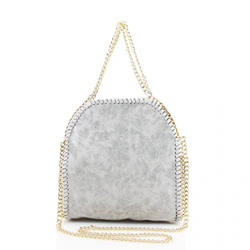 ydezire-womens-mini-design-chain-detail-small-tote-bag-ladies-shoulder-handbag-work-new-light-grey