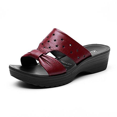 ZPPZZP Ms sandali pantofole estate piatta morbida pendenza 40EU