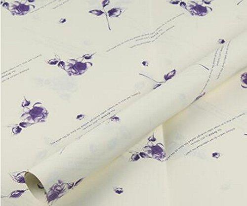 Papier Floral Wrap 20 Sheets Matériaux d'emballage exquis [Violet]