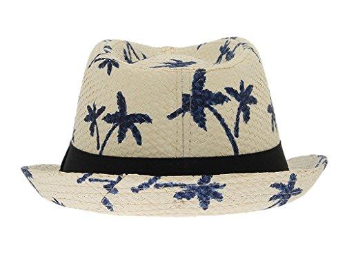 La Vogue Vintage Chapeau De Paille Fedora Trilby Anti-Soleil Plage Été Kaki
