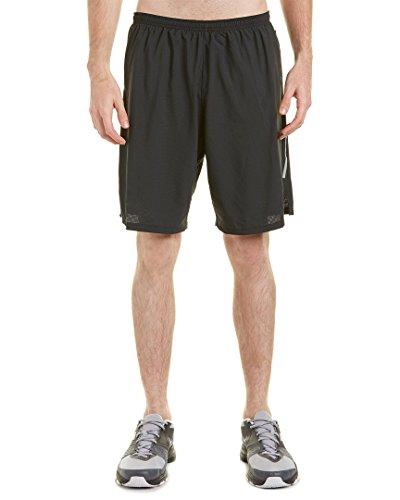 Nike 9Phenom 2-in-1Short–Pantaloncini per uomo Nero / Verde / Argento (argento riflettente nero/volt/riflesso)