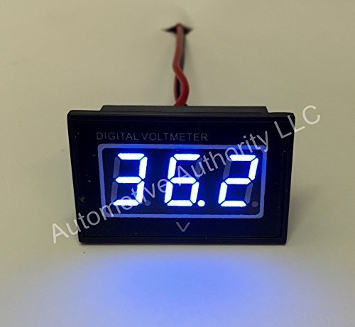 Automotive Authority LLC® 36 V Golf Cart Digital Volt Meter Akku Gauge Club Car EzGo Yamaha 36 Volt - Blau -