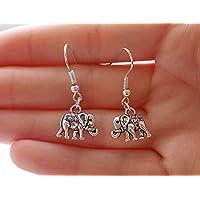 elephant earrings, silver earrings elephant jewellery, fashion earrings, gift for women