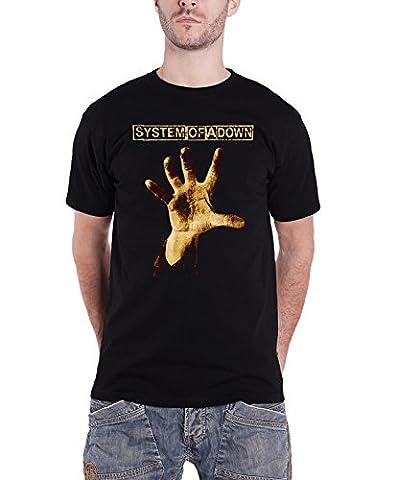 System of a Down T Shirt Vintage Hand Album Band Logo offiziell Herren Nue