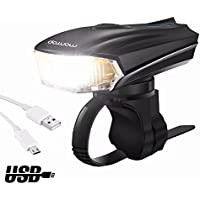 MONTOP Fahrradbeleuchtung,Fahrrad Licht LED USB Set,Wasserdichte Fahrradlampen
