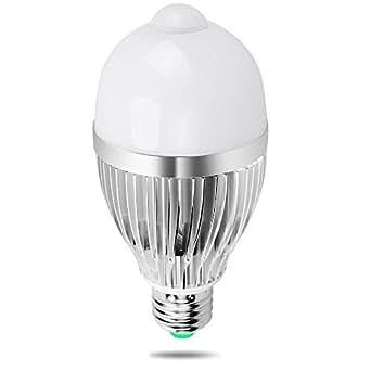 sensor birne irainy sensor lampe led 9w e27 810lm reflektorlampe mit pir bewegungsmelder f r. Black Bedroom Furniture Sets. Home Design Ideas