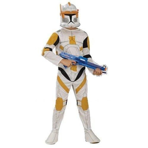 Star Wars: The Clone Wars – Klonkrieger Commander Cody Kostüm, Kindergröße L, 8-10 Jahre (Star Wars Commander Cody Kostüm)