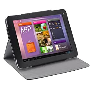 Black Protective Case Cover Pouch with Stand & Magnetic Closure for PIPO M1 9.7inch Tablet PC