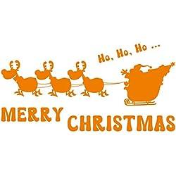 Adesivo da parete decorazioni natalizie, adesivi di Natale ( Orange)