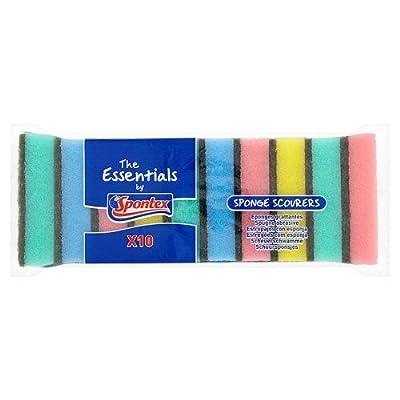 Spontex Essentials Sponge Scourers, 10 Scourers