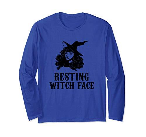 Resting Witch Face Halloween kostüm Langarmshirt