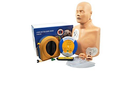 MedX5 HLW-D Trainingsset mit Übungspuppe- und Trainingsdefibrillator PAD 360P Trainer im Komplettset