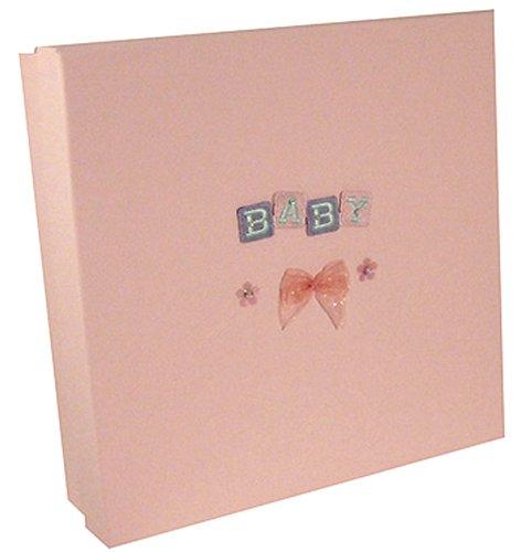 Pink Pineapple - Caja de recuerdos, diseño de cubos infantiles bordados, color rosa