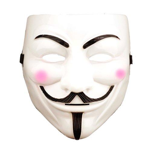 V wie Vendetta Maske, Guy Fawkes Maske, Anonymous Maske, weiß
