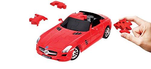 Puzzle Fun 3D 80657110 - Mercedes-Benz SLS AMG, rot