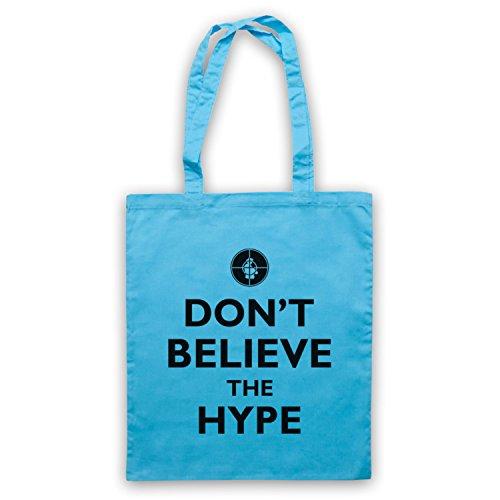 Inspiriert durch Public Enemy Don't Believe The Hype Inoffiziell Umhangetaschen Hellblau
