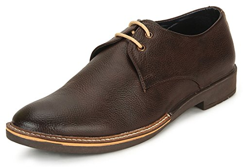 Escaro Men's Brown Elegant Corporate Casuals (ES2065BK_BROWN_6)