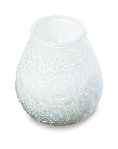 Bolsius White Lowboy Jar Candle 70 Hour Burn Time and Inspirational Fridge Magnet