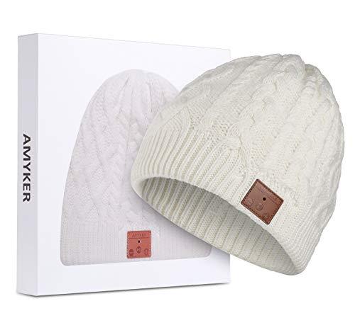f20c78a81b71 Bonnet Bluetooth, Azzker Bluetooth 4.1 sans Fil Smart Knit Chapeaux  Casquette.