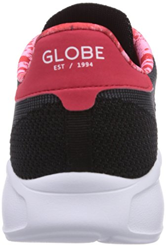 Globe Avante, Baskets Basses mixte adulte Schwarz (black/red lava 20097)