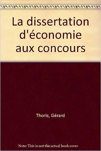 Livres La dissertation d'économie aux concours epub, pdf