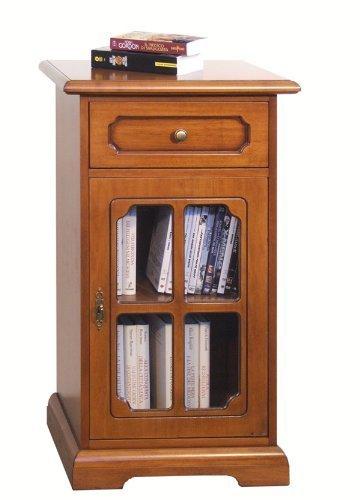 Porta telefono classico con griglia, mobiletto in legno per ingresso