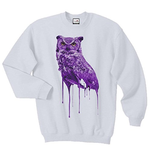 Ovoxo Sweatshirt Jumper Eule Drake Lil Wayne YMCMB Swaetshirt Fresh Dope Herren Damen Gr. S / 88,90-93,98 cm, weiß