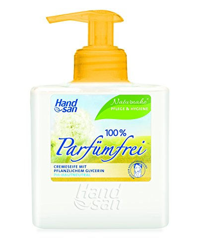 Wesentlicher Schutz Für Die Haut (Handsan Cremeseife 100% PARFÜMFREI im Spender 300 ml / Cremseife seifen- und parfümfrei Spender im 3er Vorratspack (3 x 300 ml))