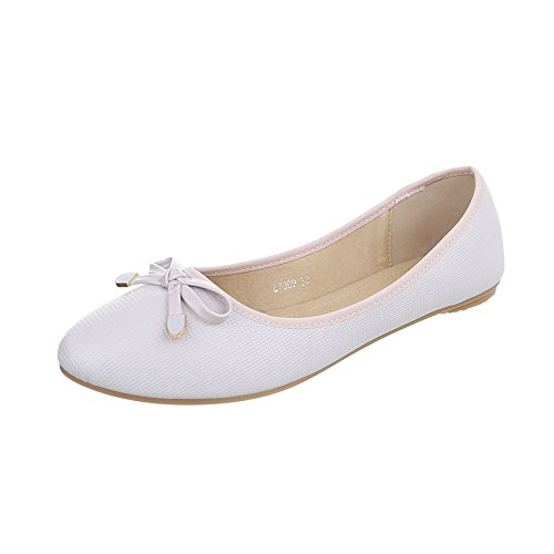 Ital-Design Ital-Design Klassische Ballerinas Damen-Schuhe Geschlossen Moderne Ballerinas Beige, Gr 37, L7309-