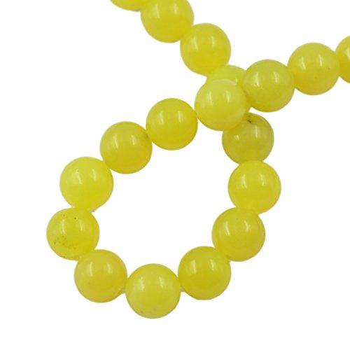 Peridot Jasper 10mm Ronda De Piedras Preciosas Perlas Sueltas Amarillo Limón