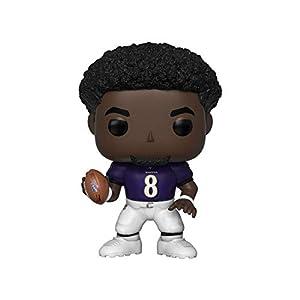 Funko- Pop Figura De Vinil: NFL: Ravens-Lamar Jackson (Home Jersey) Coleccionable, Multicolor (42864)