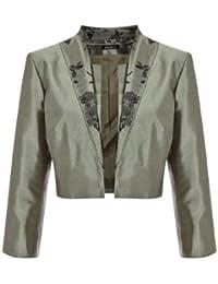 Roman Originals Damen Bolero Jacke mit 3 4 armeln Große 38 bis 50 e1b8b943d1